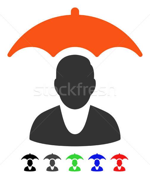 Patient sécurité parapluie icône vecteur Photo stock © ahasoft