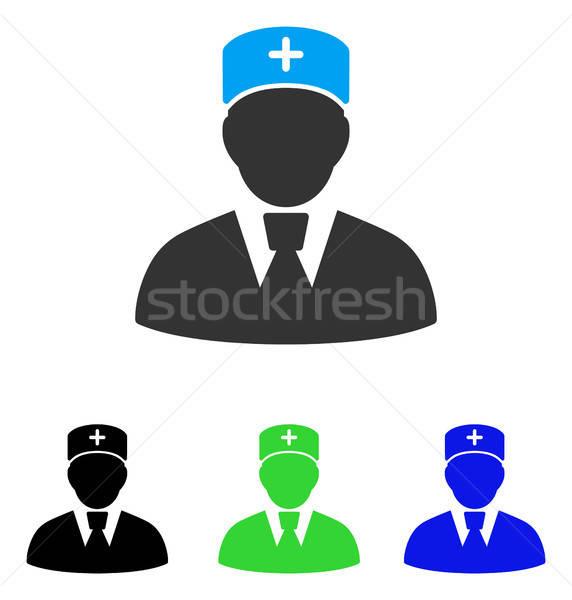 Head Physician Flat Icon Stock photo © ahasoft