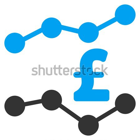 Bitcoin And Dollar Trends Flat Icon Stock photo © ahasoft
