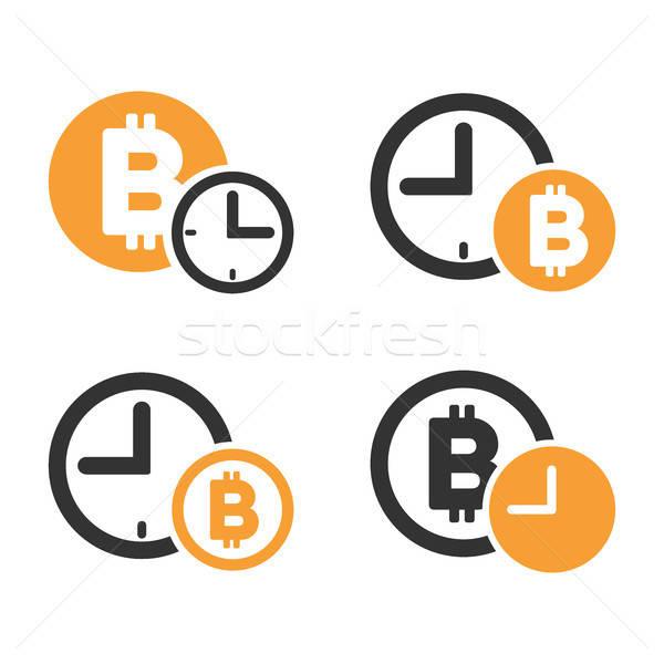 Bitcoin Credit Vector Icon Set Stock photo © ahasoft