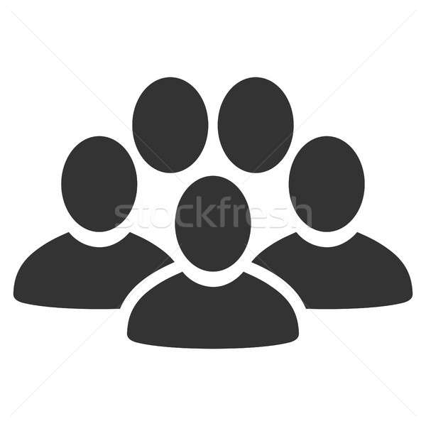 Personas multitud icono estilo gráfico gris Foto stock © ahasoft