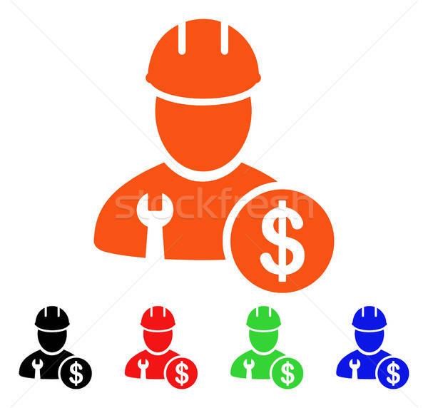 Trabajador salario vector icono estilo icónico Foto stock © ahasoft