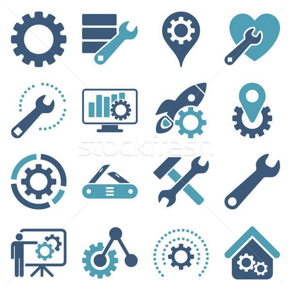 Opties dienst tools stijl symbolen Stockfoto © ahasoft
