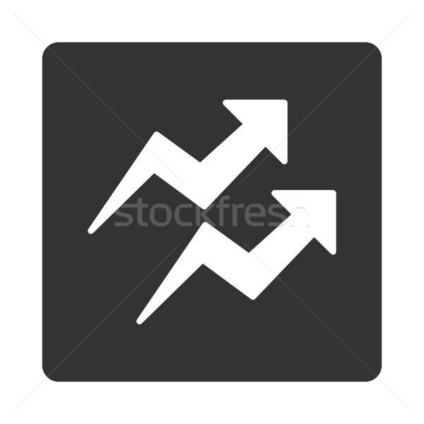 Tendances icône carré bouton blanche gris Photo stock © ahasoft
