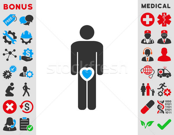 Male Love Icon Stock photo © ahasoft