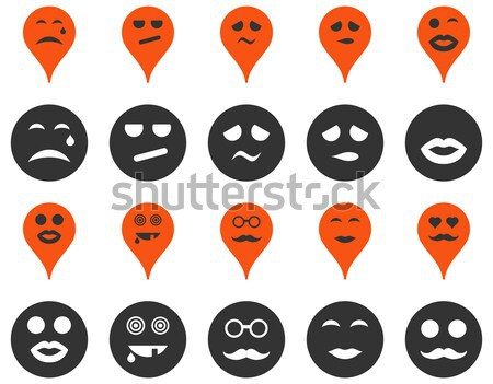 Sourires carte icônes style Photo stock © ahasoft