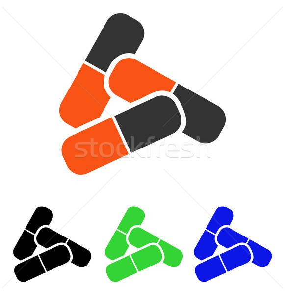 Pills Flat Vector Icon Stock photo © ahasoft