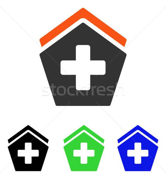 Hospital Flat Vector Icon Stock photo © ahasoft