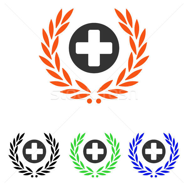 Health Care Embleme Flat Vector Icon Stock photo © ahasoft