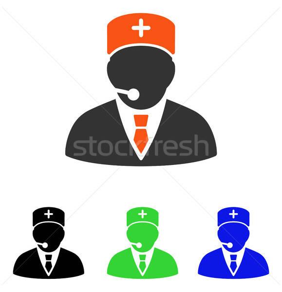 医療 マネージャ ベクトル アイコン 実例 スタイル ストックフォト © ahasoft