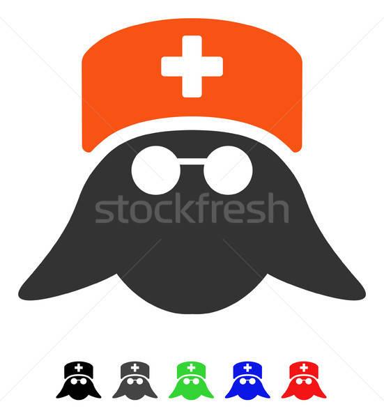 Medische verpleegkundige hoofd icon vector gekleurd Stockfoto © ahasoft