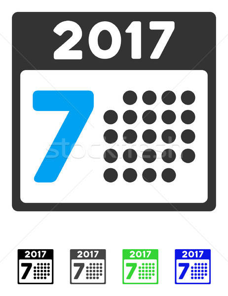 2017 Year 7Th Day Flat Icon Stock photo © ahasoft