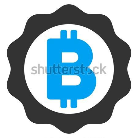 Bitcoin medalla sello icono vector aplicación Foto stock © ahasoft