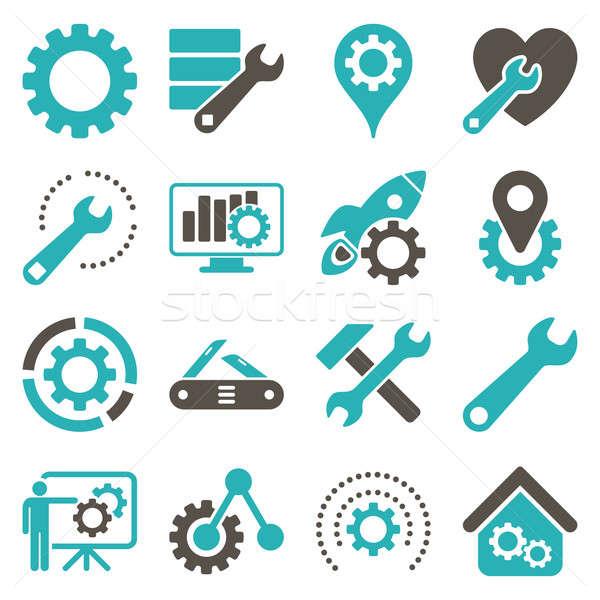 Foto stock: Opções · serviço · ferramentas · estilo · símbolos