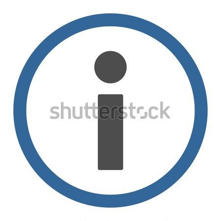 Info czarny kolor wektora ikona symbol Zdjęcia stock © ahasoft