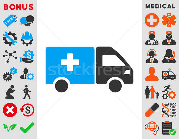 Drog szállítmány ikon stílus szimbólum kék Stock fotó © ahasoft