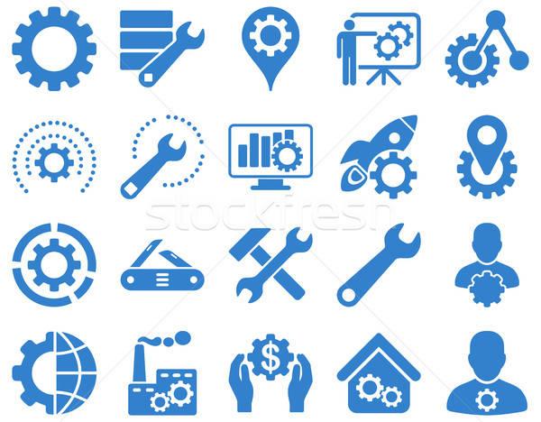 Foto stock: Herramientas · iconos · vector · establecer · estilo