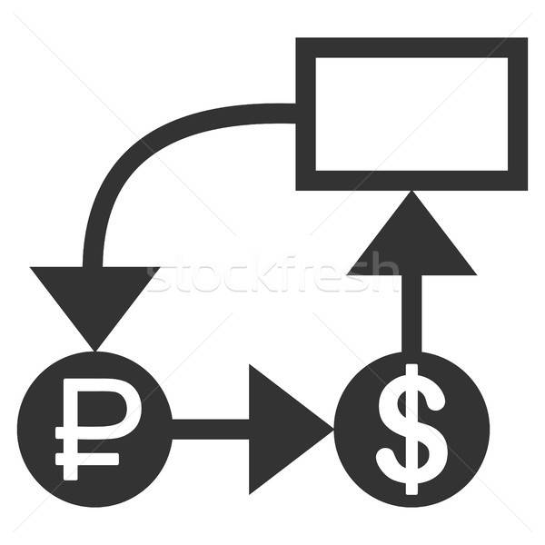 Rouble And Dollar Scheme Icon Stock photo © ahasoft
