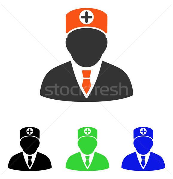 Zdjęcia stock: Głowie · lekarz · wektora · ikona · piktogram · ilustracja