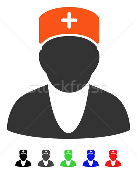 Lekarza ikona wektora piktogram kolorowy kolor Zdjęcia stock © ahasoft