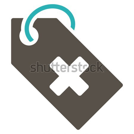 Hospital Tag Flat Icon Stock photo © ahasoft