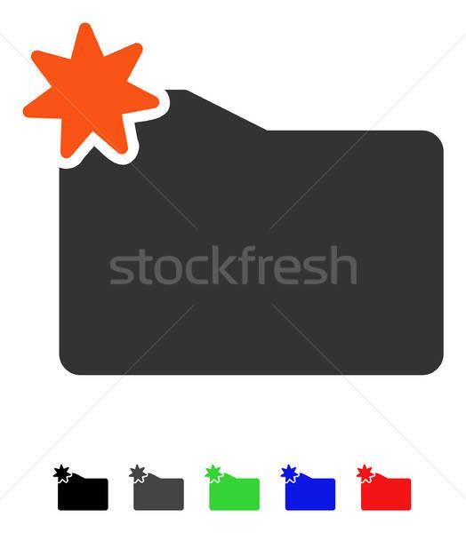 új mappa ikon vektor színes szín Stock fotó © ahasoft