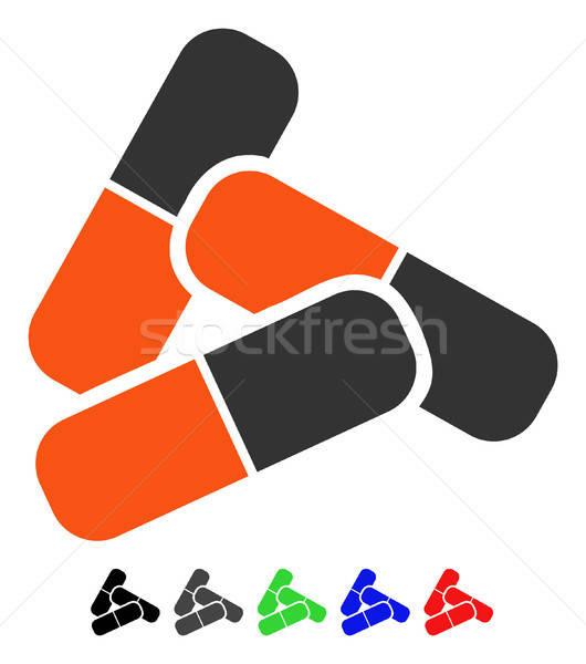 Hapları ikon vektör renkli renk siyah Stok fotoğraf © ahasoft