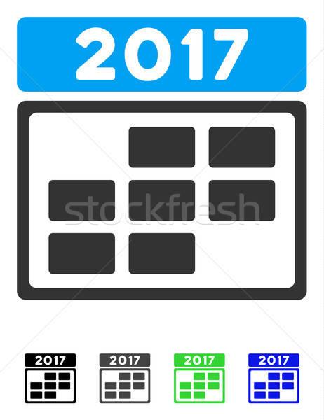 Calendário semana grade ícone vetor pictograma Foto stock © ahasoft