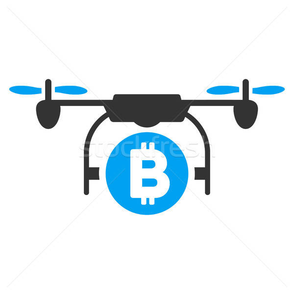 Bitcoin Copter Flat Icon Stock photo © ahasoft