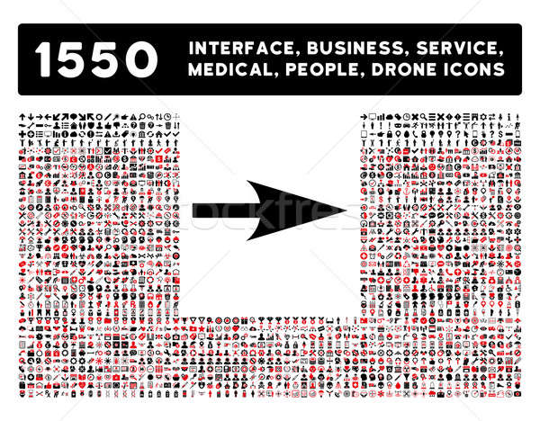 Arrow Axis X Icon and More Interface, Business, Tools, People, Medical, Awards Flat Glyph Icons Stock photo © ahasoft
