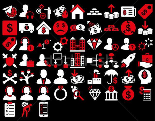 Commerce ikona czerwony biały kolory Zdjęcia stock © ahasoft