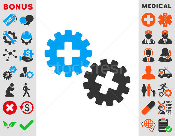 Medical Gears Icon Stock photo © ahasoft