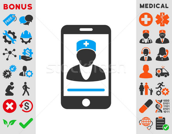 Mobile Doctor Icon Stock photo © ahasoft