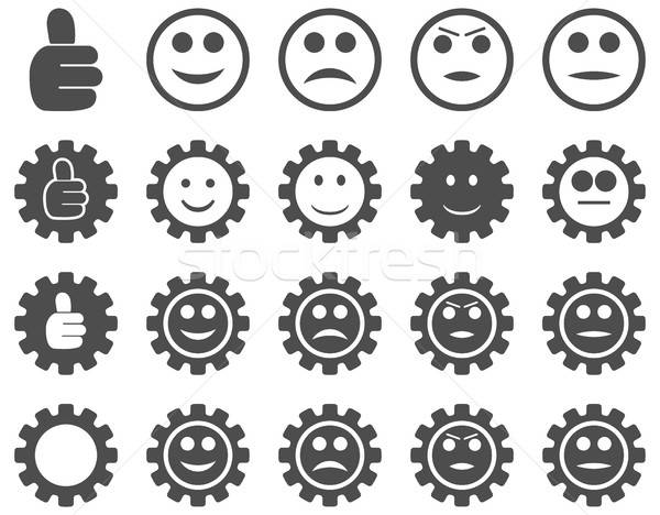 Settings and Smile Gears Icons Stock photo © ahasoft