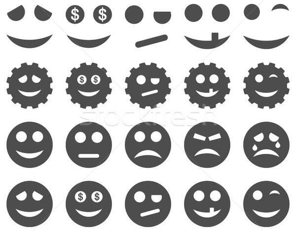 Tools versnellingen glimlacht iconen vector Stockfoto © ahasoft
