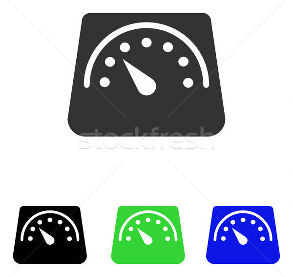 Weight Meter Flat Vector Icon Stock photo © ahasoft