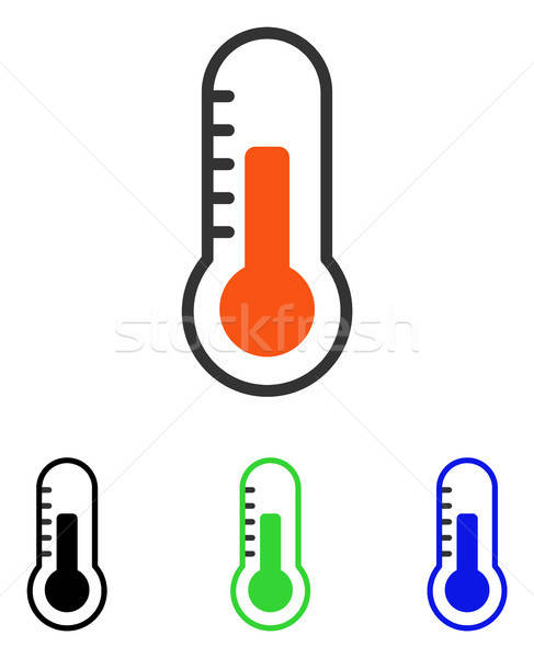 Temperature Flat Vector Icon Stock photo © ahasoft