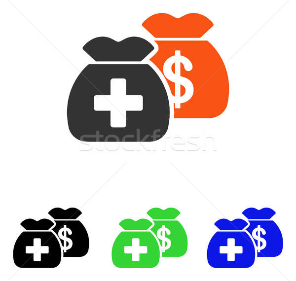 Health Care Funds Flat Vector Icon Stock photo © ahasoft