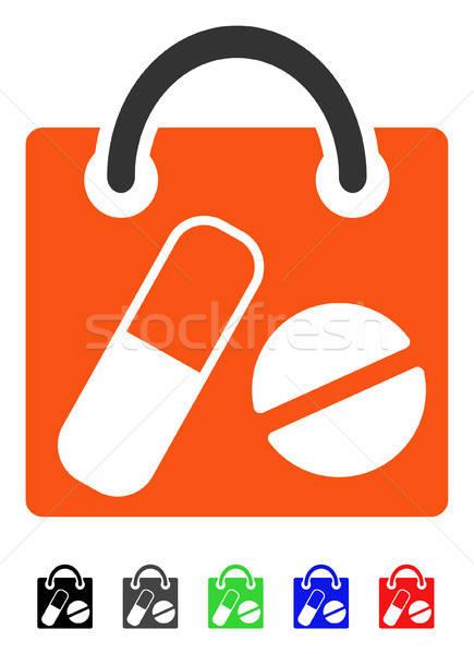 Drugs Shopping Bag Flat Icon Stock photo © ahasoft