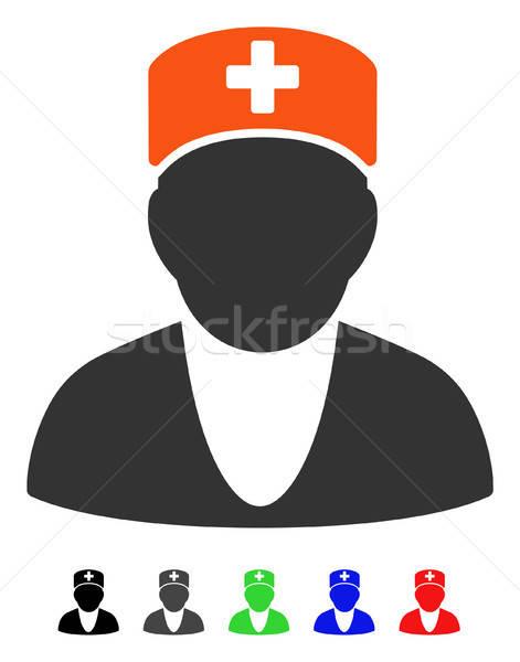 Медик икона вектора цвета черный Сток-фото © ahasoft