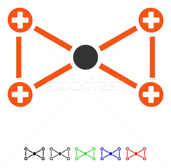 Medical Nodes Flat Icon Stock photo © ahasoft