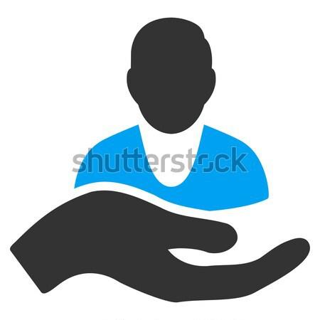 Pacjenta wsparcie ikona wektora kolorowy kolor Zdjęcia stock © ahasoft