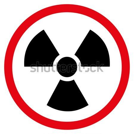 излучение опасность икона вектора пиктограммы Сток-фото © ahasoft