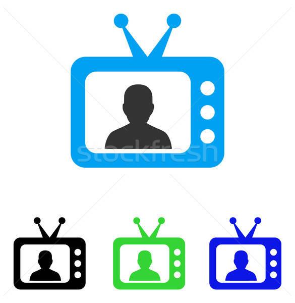 テレビ スピーカー アイコン ベクトル スタイル グラフィック ストックフォト © ahasoft