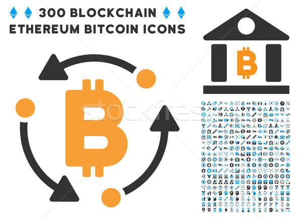 Bitcoin rotación icono clip art inteligentes contrato Foto stock © ahasoft