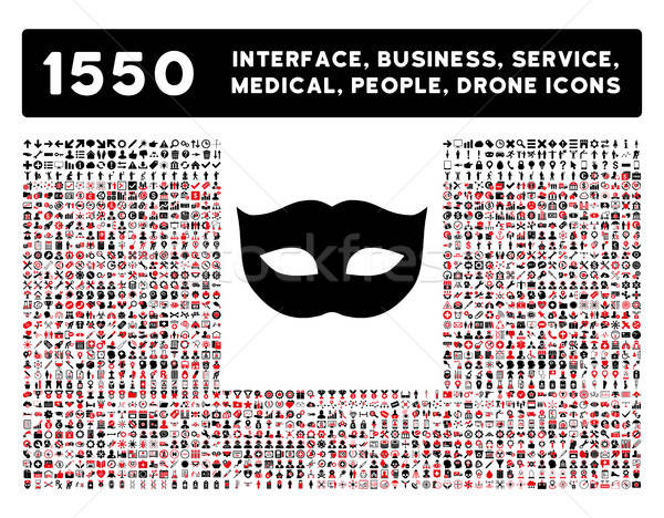 Privacy masker icon meer interface business Stockfoto © ahasoft