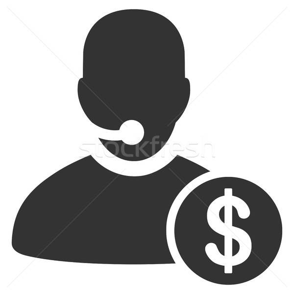 Bank call center icon vector stijl grafische Stockfoto © ahasoft