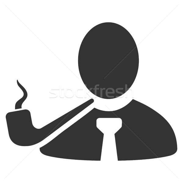 喫煙 探偵 アイコン スタイル グラフィック グレー ストックフォト © ahasoft