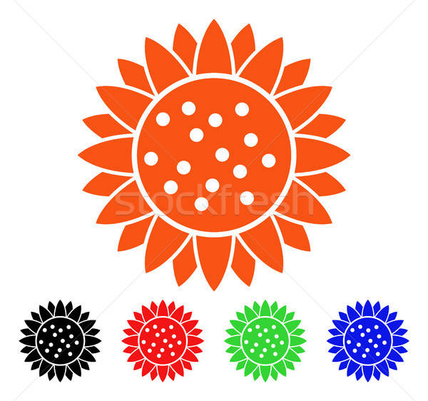 Sunflower Flower Vector Icon Stock photo © ahasoft