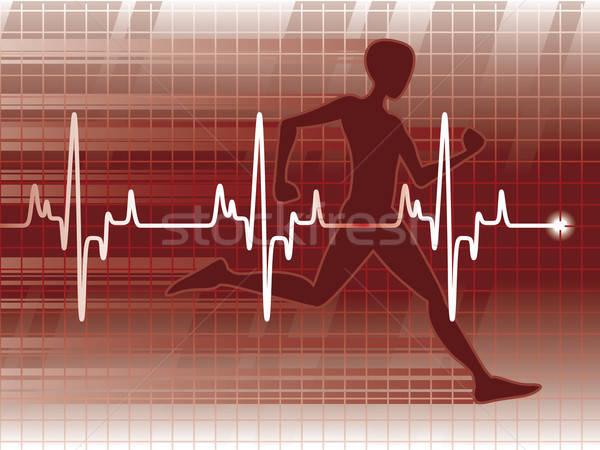 Stok fotoğraf: Tıbbi · test · uygunluk · sınav · kalp